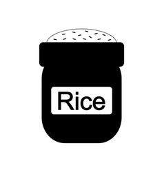 bag of rice icon vector image