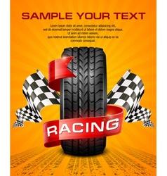 Rubber tire  racing symbols vector image
