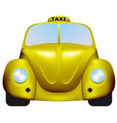 Retro taxi vector