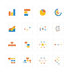 Icon graphandchart vector