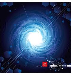 Vortex Blue Tech vector image
