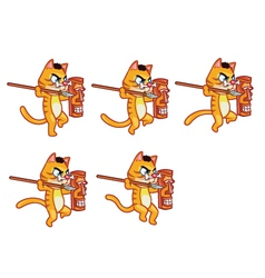 Cannibal cat jumping sprite vector