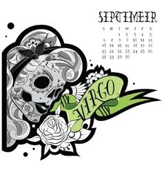 Virgo tattoo vector image