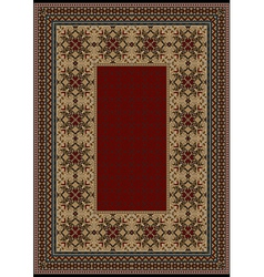 Luxury carpet with burgundy pattern vector