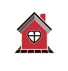 Family house abstract icon harmony at home concept vector
