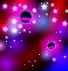 Abstract background space with stars bright and vector