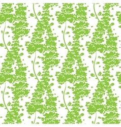 Vibrant green plants seamless pattern vector