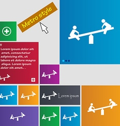 Swing icon sign buttons modern interface website vector