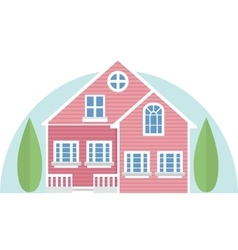 Pink house vector