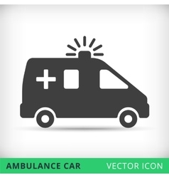Ambulance car black icon vector image