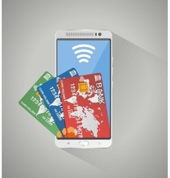 Concept of mobile banking and online payment vector