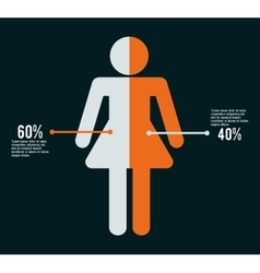 Infographic people design vector