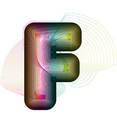 Abstract colorful letter f vector