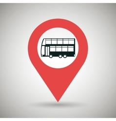 Red signal of bus side isolated icon design vector