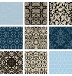 Abstract antique arabesque background baroque vector