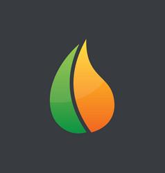 abstract waterdrop business logo vector image vector image