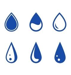 Blue droplet set vector