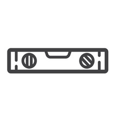 bubble level tool line icon build and repair vector image