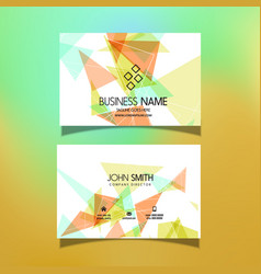 Business card with a low poly design vector
