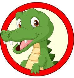 Cartoon crocodile mascot vector