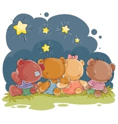 Clip art for greeting card with teddy vector image vector image