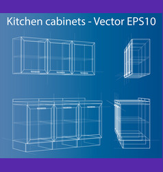 Design and manufacture of kitchen furniture vector