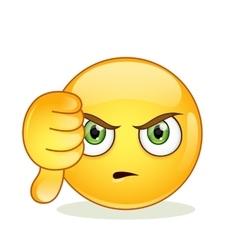 Dislike sign smiley emoticon vector