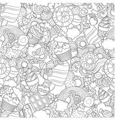 Doodle abstract background vector