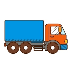 Dump truck isolated on white background vector