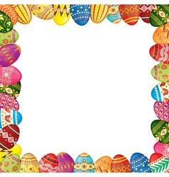 Easter eggs frame vector image