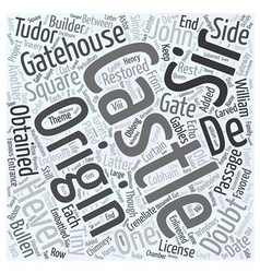 Hever castle word cloud concept vector