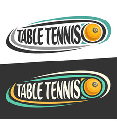 logos for table tennis vector image vector image