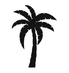 palm icon simple style vector image