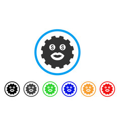 Prostitute smiley gear icon vector