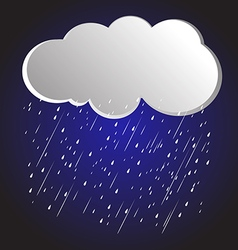 rain clouds 4 vector image