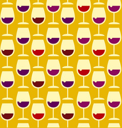 Restaurant wine bar seamless pattern with wine vector