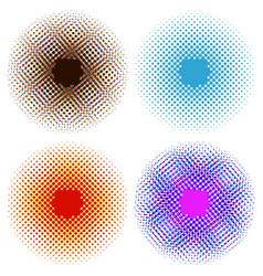 Set of bright abstract circles frames design vector