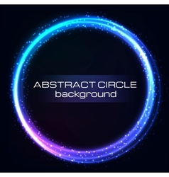 Shiny rainbow circles background vector