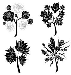 spring tree design elements vector image vector image