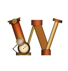 Steampunk letter isolated on white vector image vector image