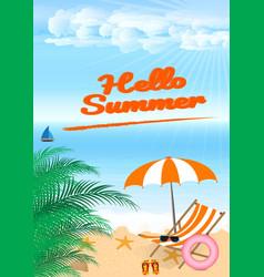 Summer beach design in the seashore with beach vector