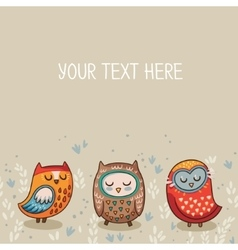 Tribal owl card vector image vector image