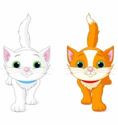 two kittens vector image