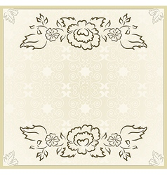 vintage design for wedding card - vector image