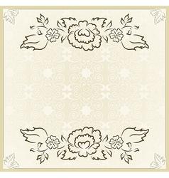 vintage design for wedding card - vector image vector image