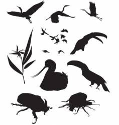 wild silhouettes vector image