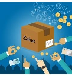 zakat giving money to the poor islam concept vector image vector image