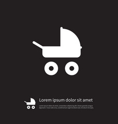 Isolated stroller icon transportation vector
