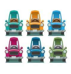 Six Color Cars vector image