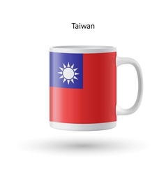 Taiwan flag souvenir mug on white background vector